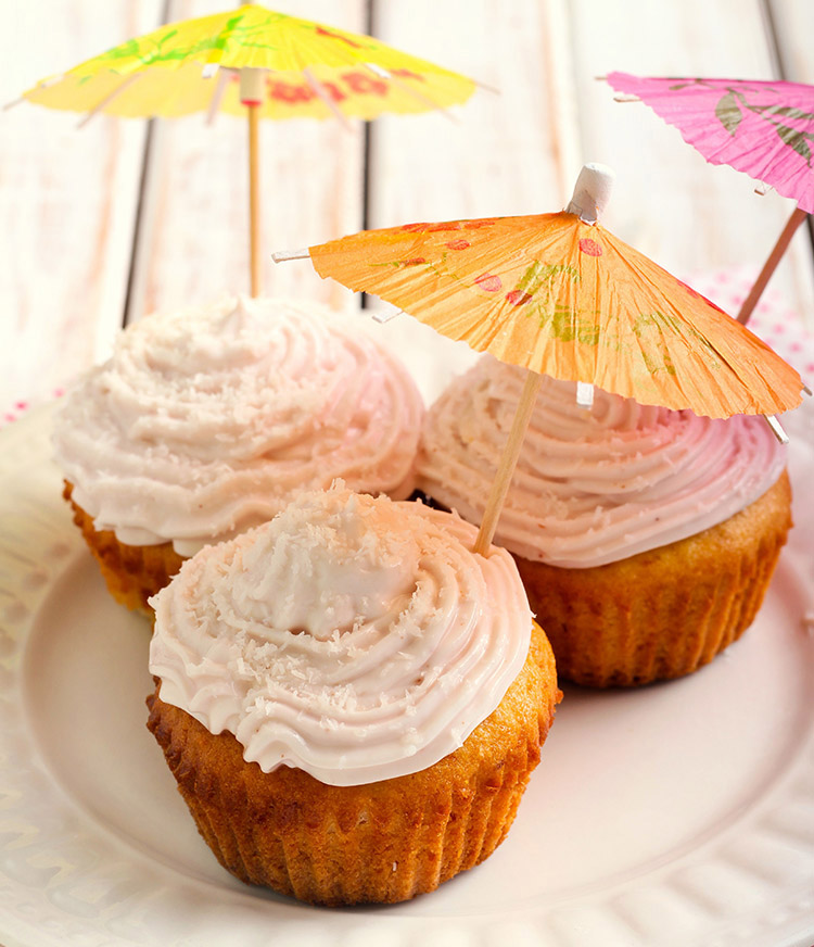 Pina Colada Cupcakes (25-Minute Dessert)