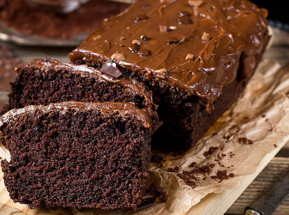 Fudgy Dark Chocolate Cake