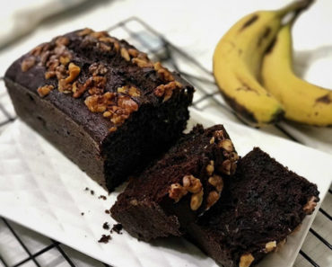Chocolate Banana and Walnut Olive Oil Pound Cake